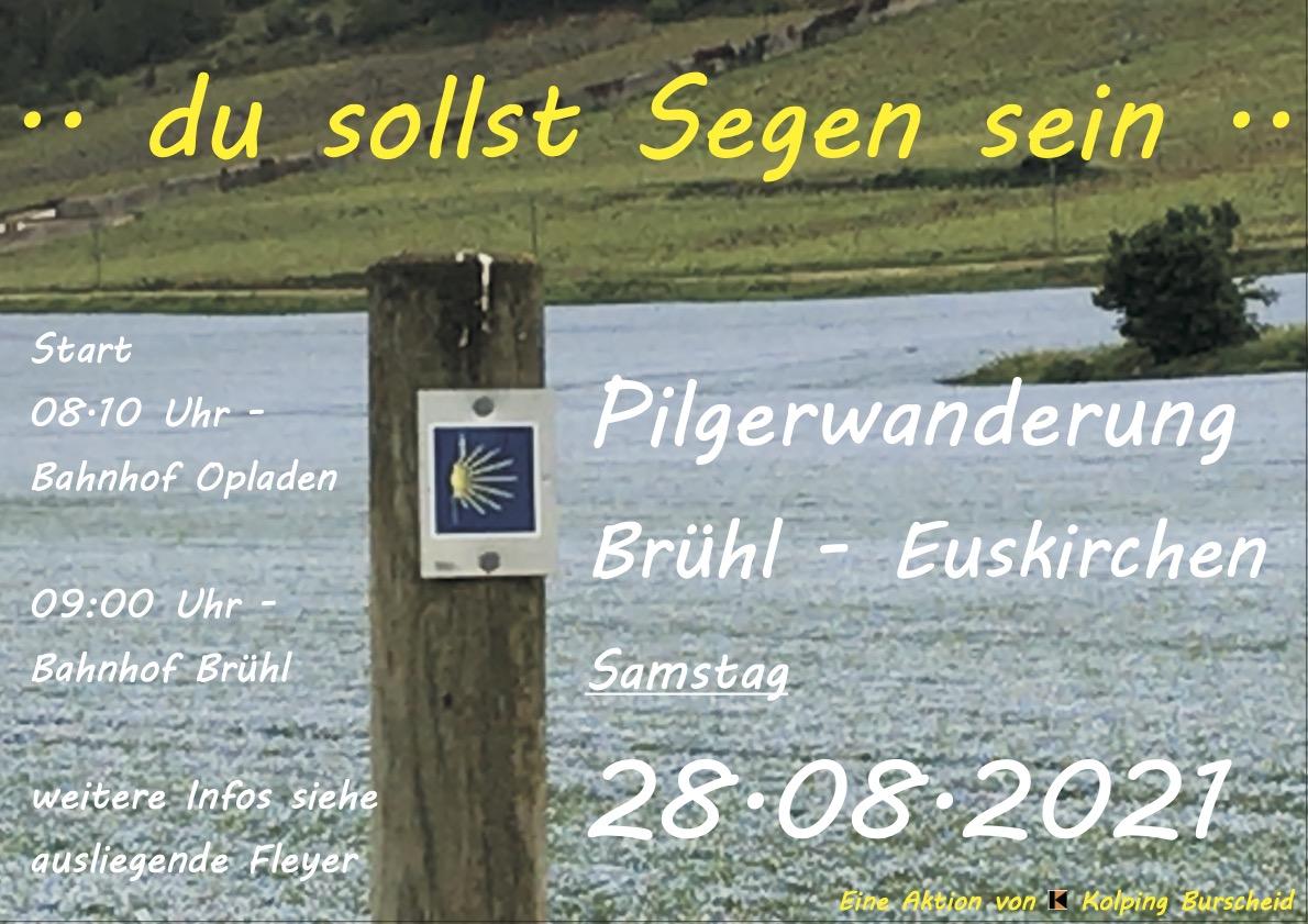 Plakat zur Pilgerwanderung